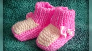 как связать пинетки для новорожденных, вязание спицами для начинающих