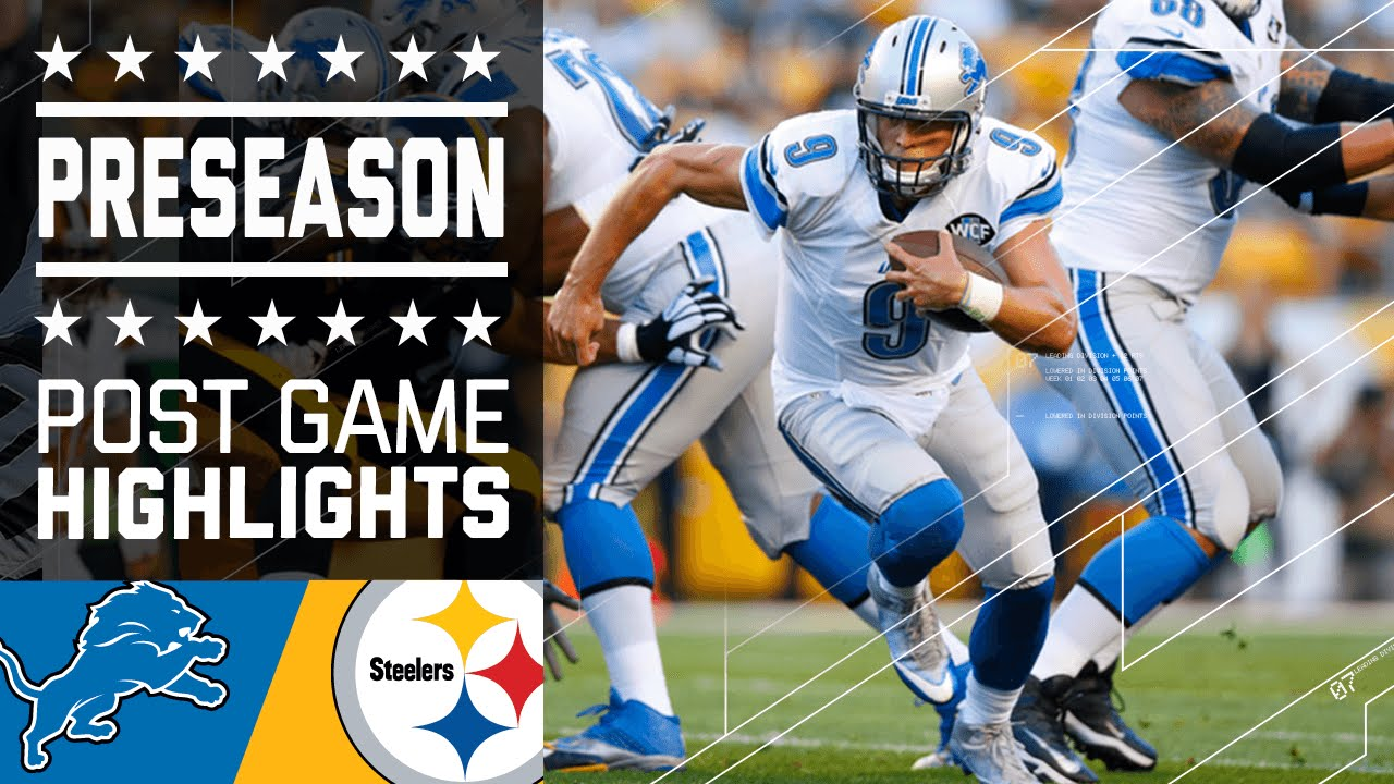 Image result for Steelers vs Lions Live pic logo