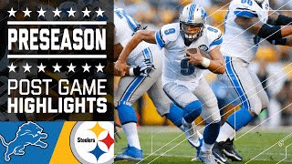 Lions vs. Steelers | Game Highlights | NFL