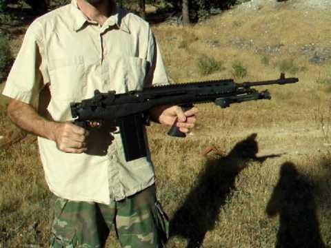 M1A M14 folding stock shooting demo