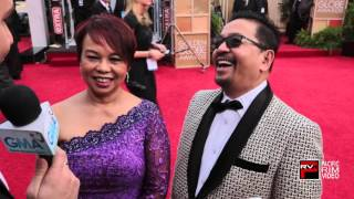 Janet Nepales and Ruben Nepales at the 2016 Golden Globes Red Carpet