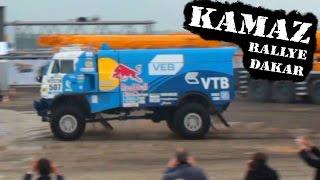 KAMAZ V8 TRUCK 900hp RALLYE DAKAR RUNNING THROUGH DIRT amazing engine sound
