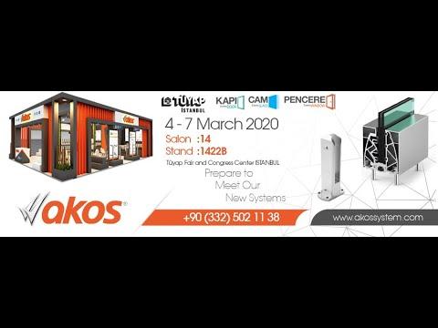 Akos Aluminium in Eurasia Window 2020 - 2020 Istanbul Exhibition Turkey