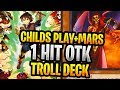 Childs Play + Agent Mars 1 Hit OTK! 10,000+ Yugioh Troll / Cheese Deck : Duel + Deck Profile