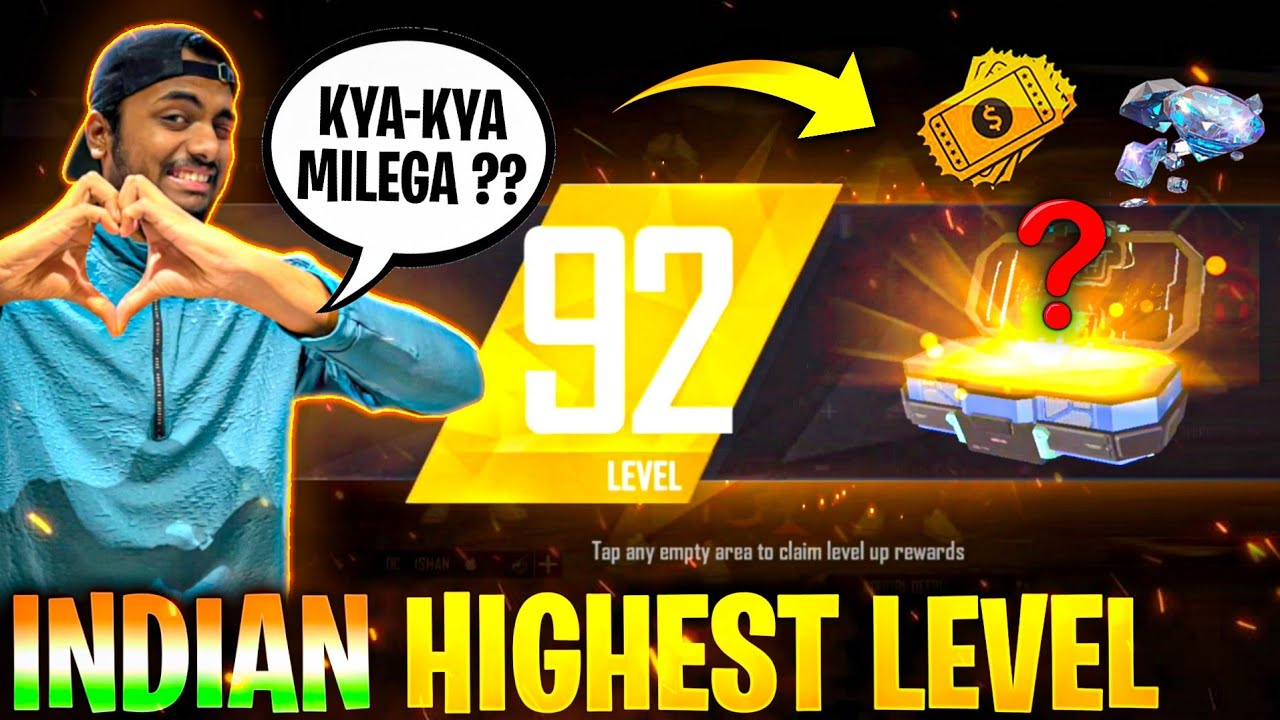92 Level Up Reward 😱 Kya मिलेगा?? Indian Highest Level Box Live Reaction 😨 - Garena Free Fire