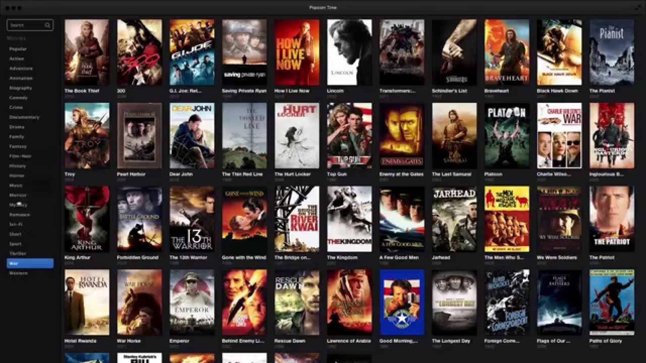Popcorn Time App Demo On Mac Osx Youtube