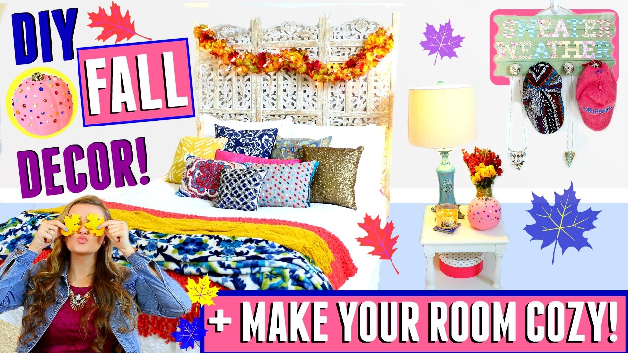 diy fall tumblr room decor for cheap easy tips on how to make your room cozy jessica. Black Bedroom Furniture Sets. Home Design Ideas