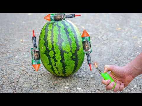 Experiment: Will the Watermelon rockets spin up?