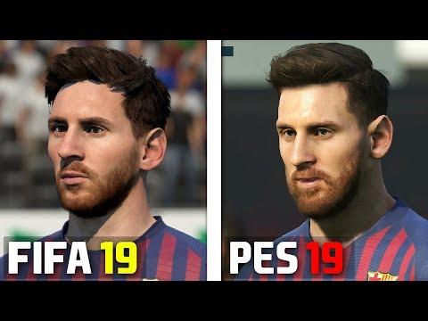 FIFA 19 vs PES 2019 Faces Comparison: FC Barcelona