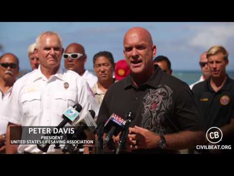 Ocean Safety Statewide Press Conference: Peter Davis - United States Lifesaving Association