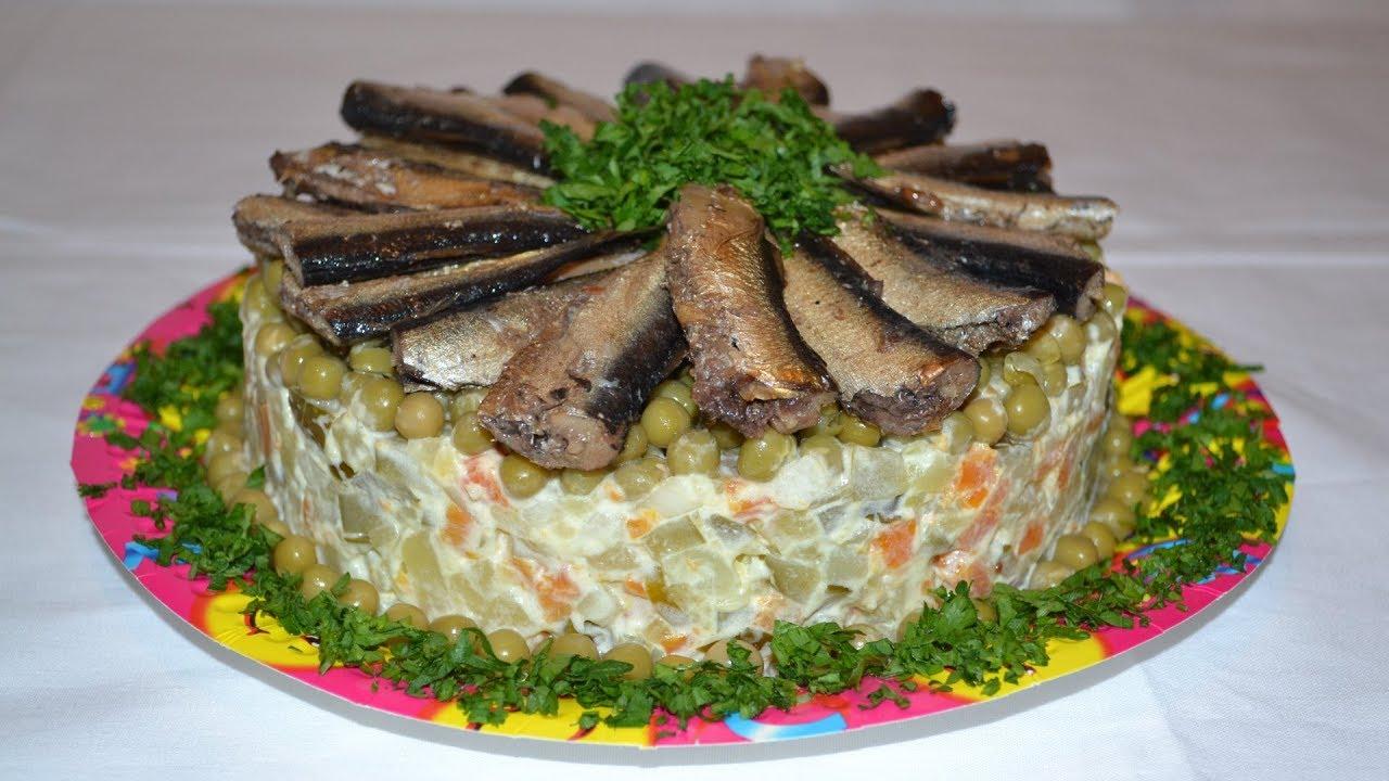 Необычный салат новый год
