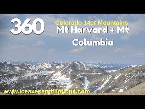 Virtual Reality / 360 Video: Mt Harvard & Mt Columbia - Epic Mountain Adventure Travel