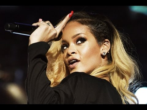 Rihanna Hits Fan with Microphone