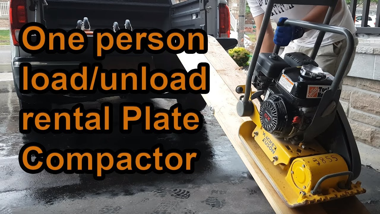1 Minute Diy Tips How To Load And Unload Rental Plate Compactor Youtube