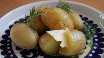 Uusien perunoiden keittäminen