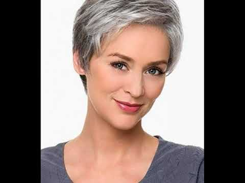 Ladies Short Hairstyles For Grey Hair Youtube