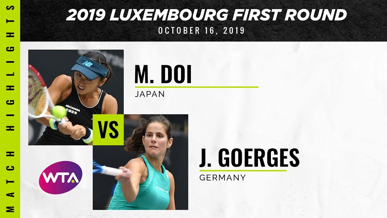 Misaki Doi vs. Julia Goerges | 2019 Luxembourg Open First Round | WTA Highlights