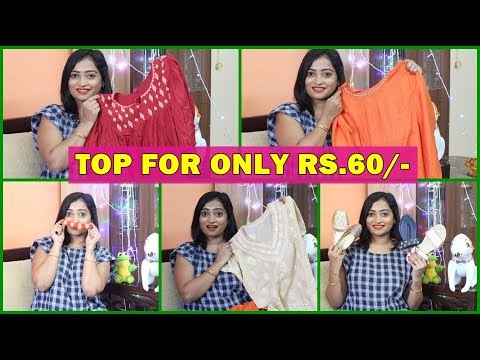 TOP FOR ONLY Rs.60/- Navi Mumbai Street Shopping Haul/ INDIAN MOM ON DUTY