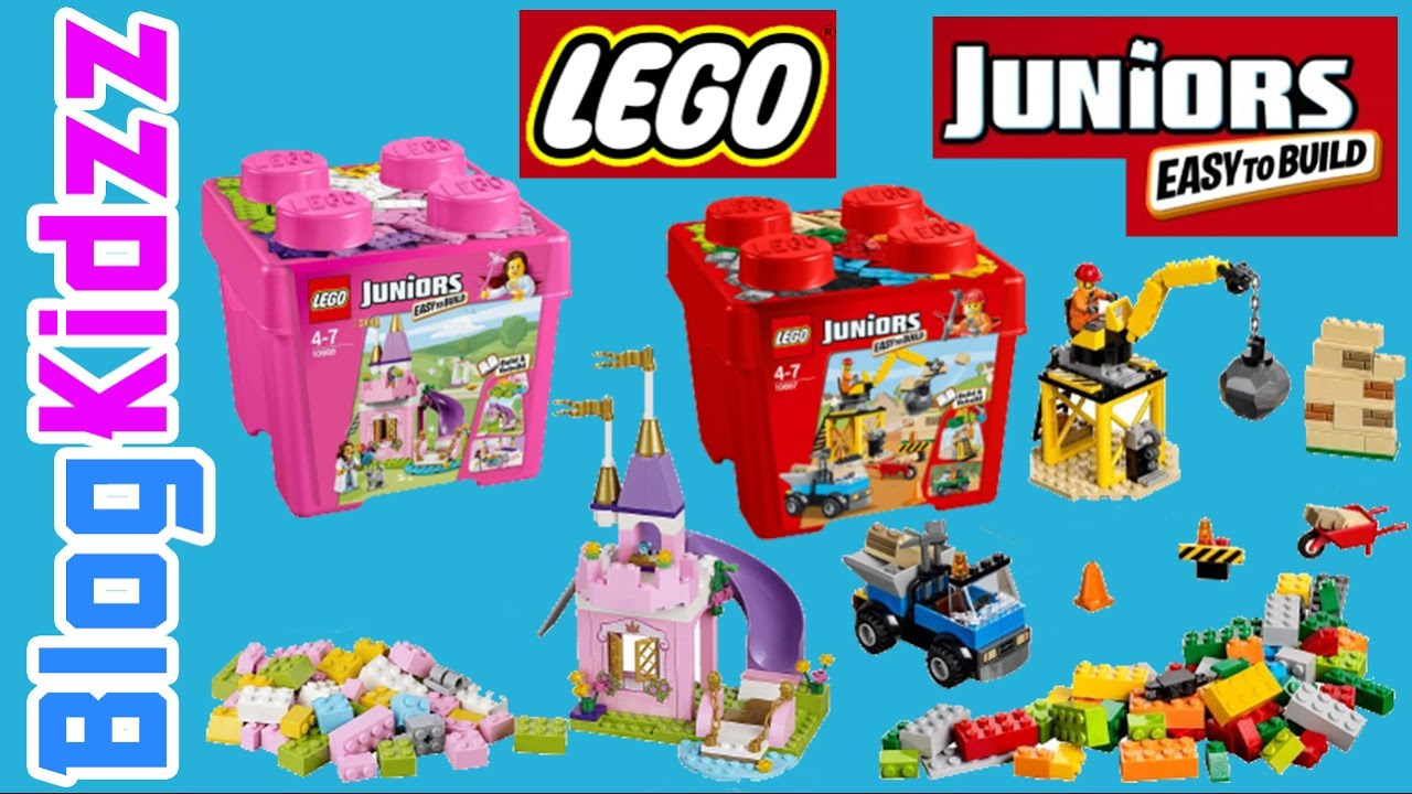 lego junior construction 10668 and the princess play castle sets
