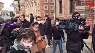 Митингующие у посольства Франции в Москве выступили против карикатур на пророка Мухаммеда