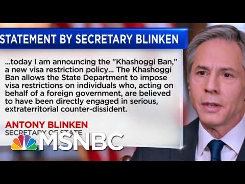 State Dept. Issues Response To Intelligence Report Findings On Khashoggi's Murder   Katy Tur   MSNBC