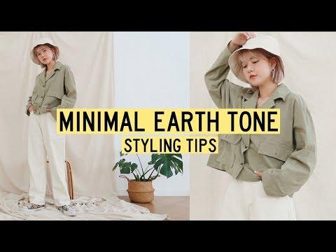 Korean Online Shop: Styling Basic Minimal Earth Tone Clothing   Q2HAN - YouTube