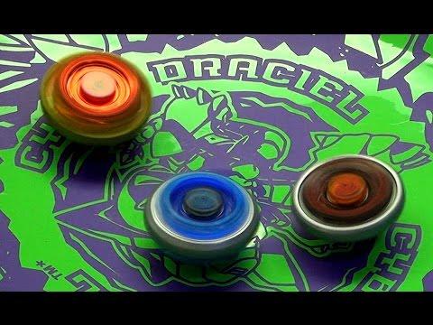 Beyblade Cyber Draciel Battle Series 2 Gravity Destroyer vs Rock Zurafa vs Ray Gill