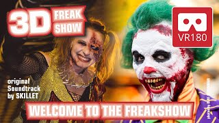 Halloween Horror Festival VR180 3D Creepypasta Experience | Welcome to the Freakshow Movie Park