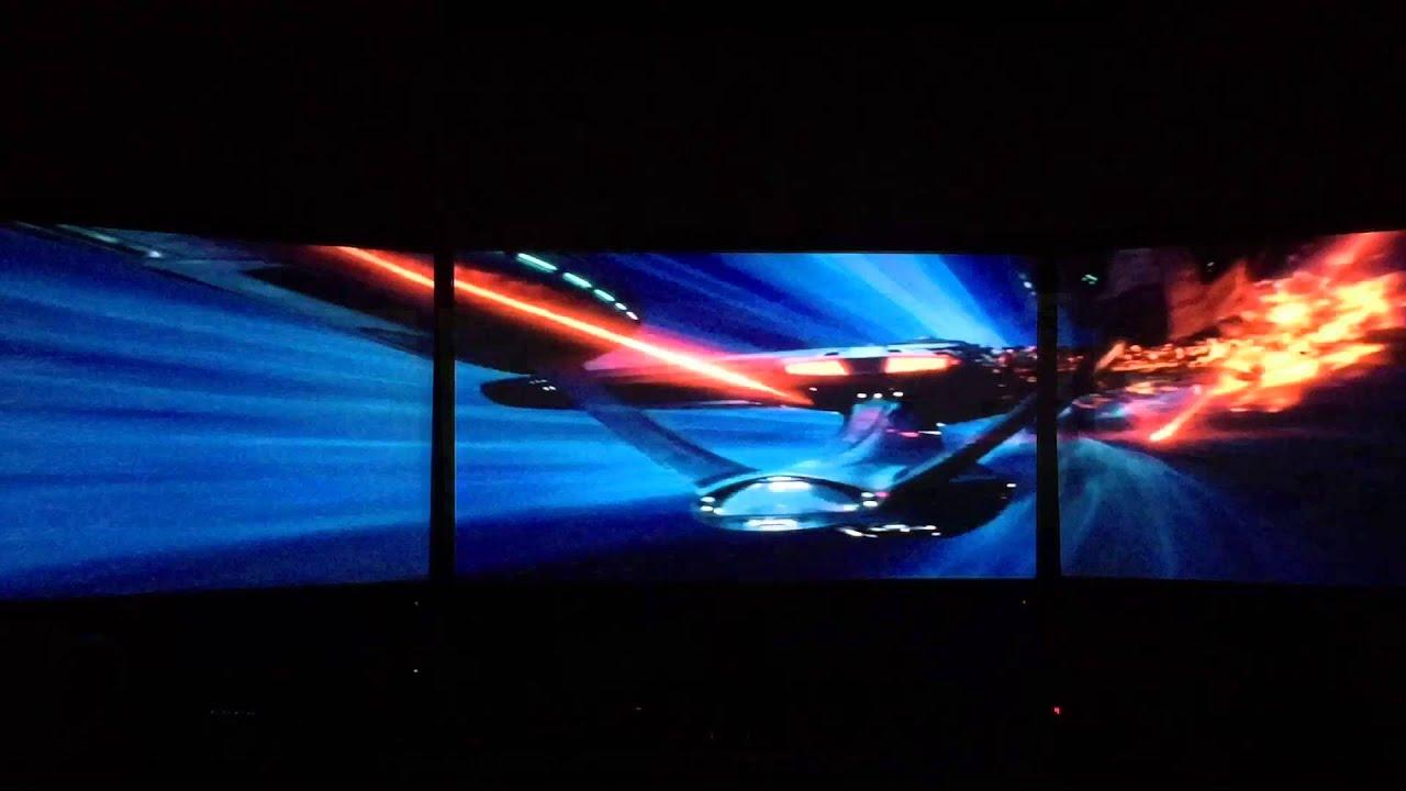 star trek movie clips eyefinity surround triple monitors - YouTube