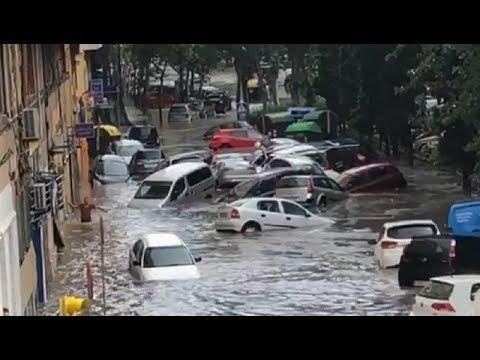 Apocalyptic storm hits Zaragoza, España - July 11, 2018