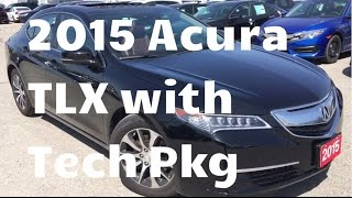 2015 Acura TLX w/Technology Package | WHITBY OSHAWA HONDA | Stock #: U4510