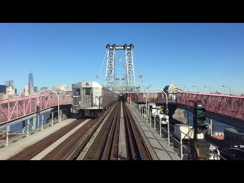 NYC Subway HD 60fps: Manhattan Bound R42 4836 J Skip-Stop Express Train Railfan Window (6/24/15)