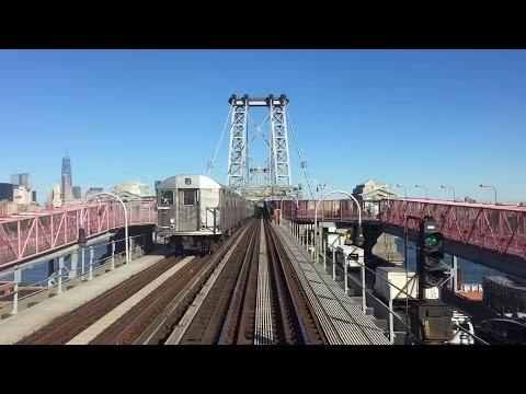 NYC Subway HD 60fps: Manhattan Bound R42 4836 J Skip-Stop Express Train Railfan Window (6/24/15)