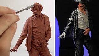 Sculpting Michael Jackson (Time Lapse 4K) - Billie Jean Outfit