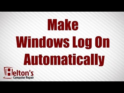 Make Windows Log On Automatically - Windows 7