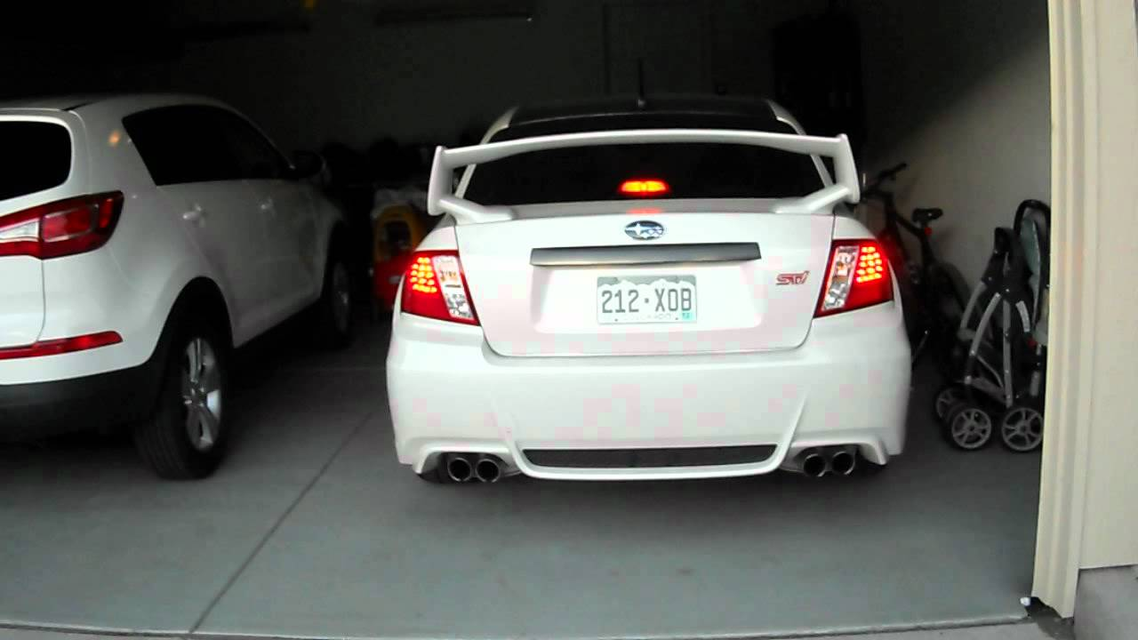 Depo Led Tail Lights Impreza Wrx Sti Sedan 08 12 Youtube