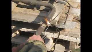 Сварка газовой трубы(, 2012-03-21T20:04:29.000Z)