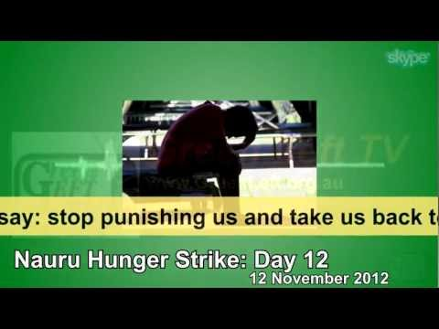 Nauru hunger strike day 12