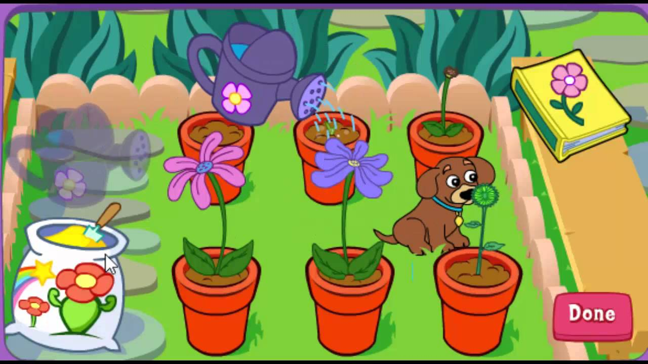 Dora The Explorer Dora S Magical Garden Online Games Youtube