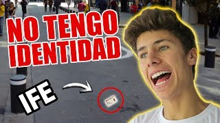 NO TENGO IDENTIDAD - Perdí mi IFE / Juanpa Zurita