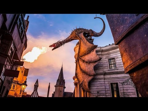 Harry Potter and the Escape from Gringotts ride FULL EXPERIENCE  - Universal Orlando (HD)