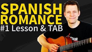Guitar Lesson & TAB: Spanish Romance - Romanza p1 - How to play Minor Section