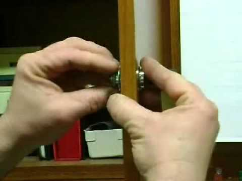 kitchen cabinet locks stain install a simple lock on swinging wood doors youtube