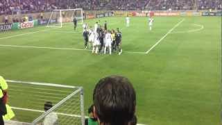 David Beckham hits referee with ball (nice angle!!!) against San Jose Earthquakes, June 30 2012