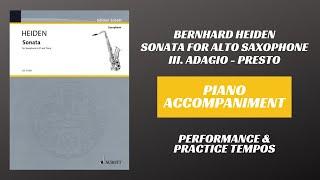 Bernhard Heiden – Sonata for Alto Saxophone, mvt. III (Piano Accompaniment)
