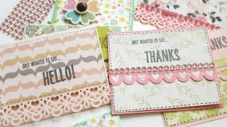 MAKING CARDS FROM HAPPY MAIL STASH | PAPER CRAFTING