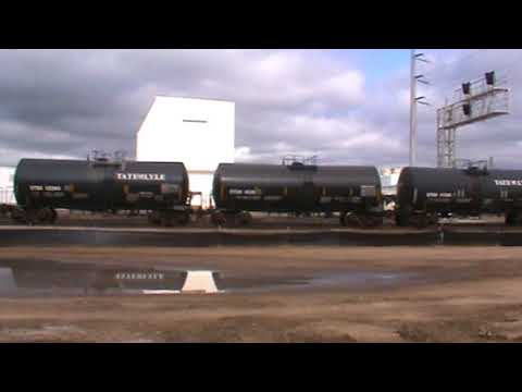 BNSF General Freight arrival backing up Tulsa, OK 8/13/17 vid 4 of 11