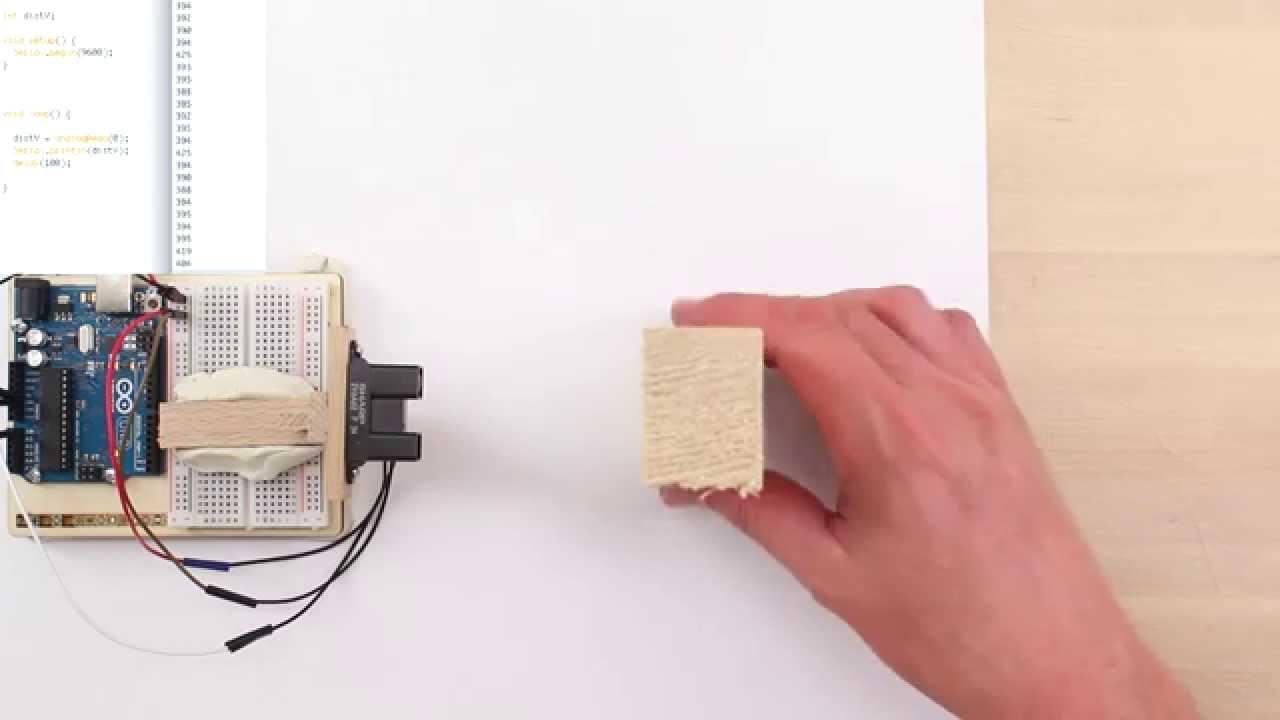 Arduino und infrarot entfernungssensor gp y a yk von sharp youtube