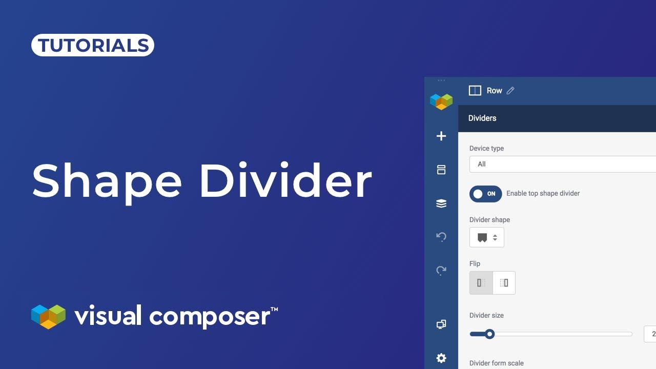 Shape divider - Visual Composer Website Builder
