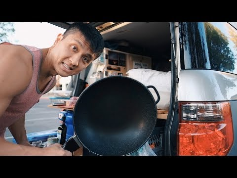 Van Life Kitchen || Cooking A Simple Healthy Meal On The Road